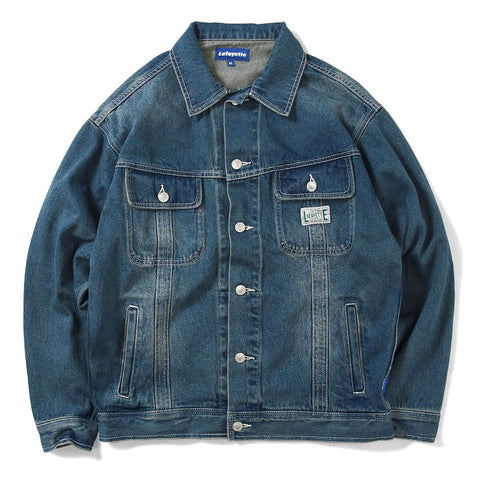 Lafayette Workers Denim G Jacket Inigo Blue