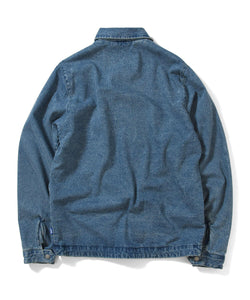 LFYT Lafayette LF Logo Washed Denim Coach Jacket