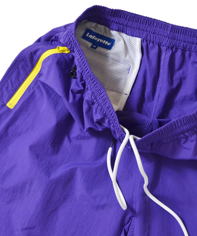 NYLON ELASTIC WAIST SHORTS PURPLE
