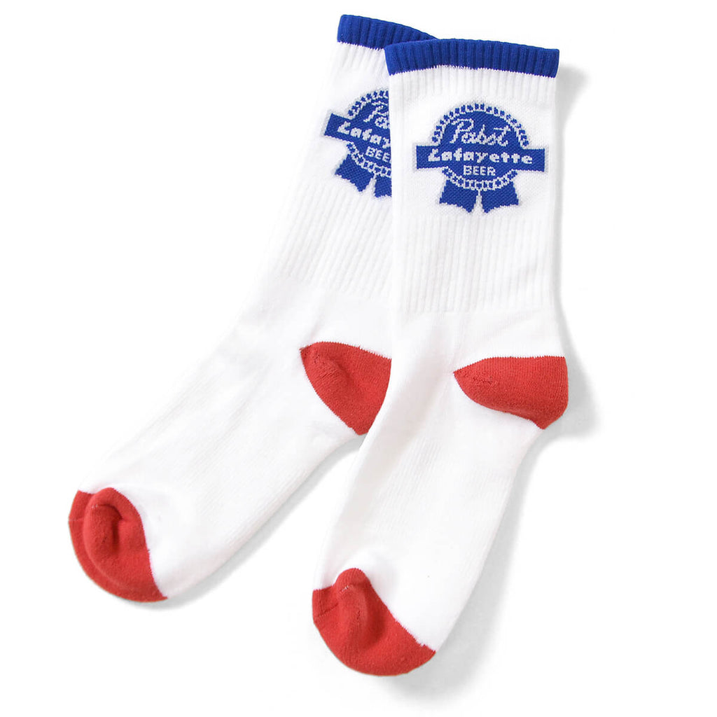 Lafayette x PABST BLUE RIBBON Socks White
