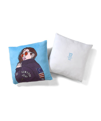 Lafayette x Thiago Villas Boas - BOMBER JACKET GIRLS Pillow