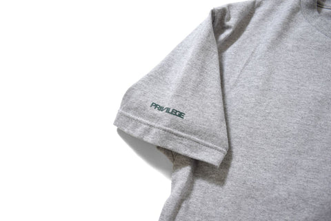PRIVILEGE NYNY S/S Tee Heather Grey/Green