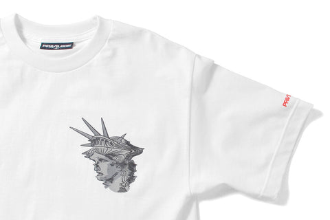 PRIVILEGE x NYNY Distorted Liberty Tee White