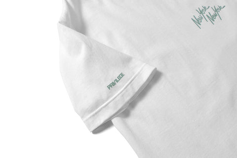 PRIVILEGE x NYNY Two Face  Liberty Tee White/Teal