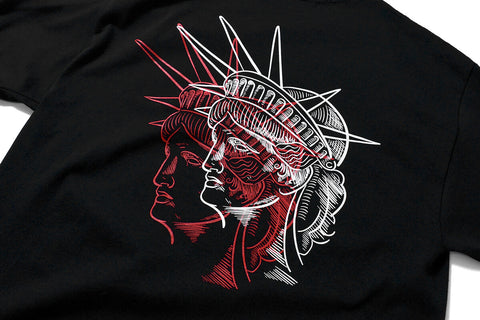 PRIVILEGE x NYNY Two Face Liberty Tee Black/Red
