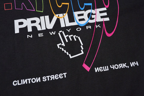 PRIVILEGE x DOT KREEP LOGO TEE BLACK
