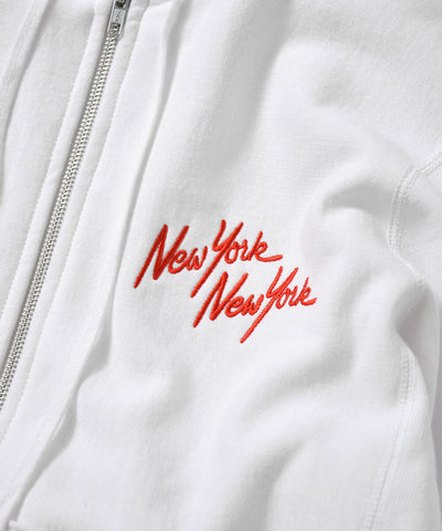 PRIVILEGE NYNY Twin Towers Zip Up Hoodie White