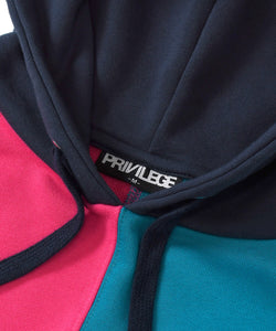 Privilege Color Block Logo Hoodie