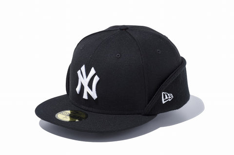 NEW ERA New York Yankees Ear Flap 59Fifty Fitted Cap Black