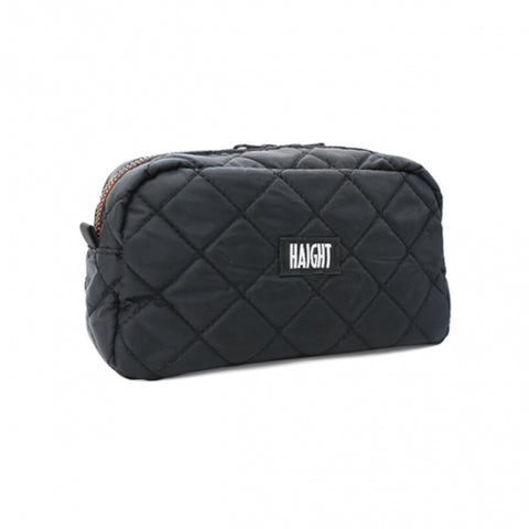 Haight Quilted Pouch Large Black