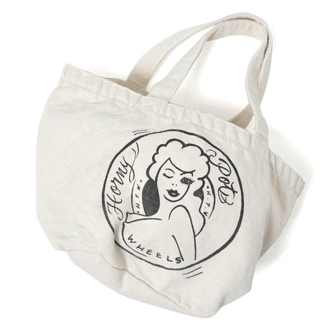 Haight x 4D7 Honey Washed Small Tote Bag Natural