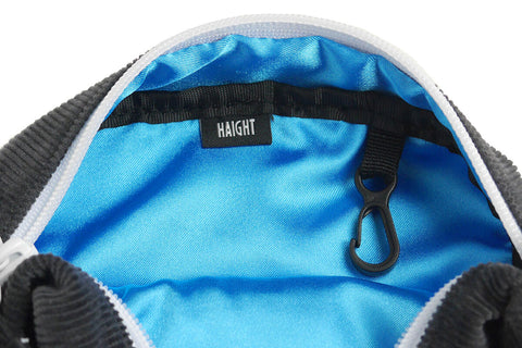 Haight x 4D7 Corduroy Shoulder Pouch Charcoal