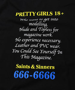 Saints & Sinners 18 or Older L/S Tee