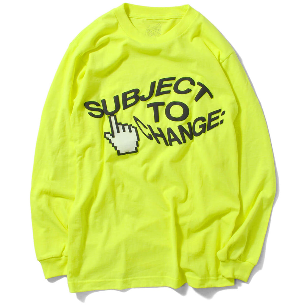 Dotkreep Subject To Change L/S Tee Safety Green