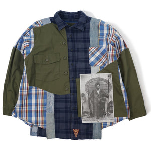 Apache Huey P Newton Button Shirt Plaid