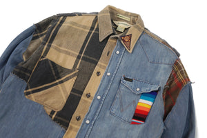 Apache Basquiat #2 Button Shirt Plaid