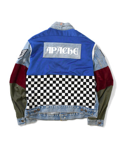 Apache Denim Checker Jacket Multi