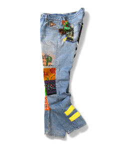 Apache Light Denim Pants Multi