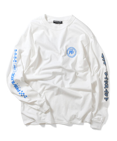 PRIVILEGE x Mikey Likes It Mikey Kart L/S Tee White