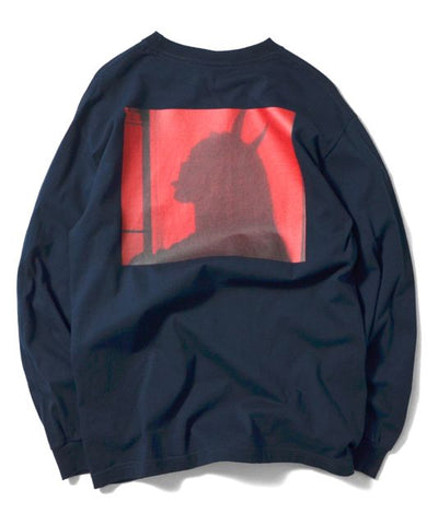 Saints & Sinners Satan Is Sexy L/S Tee Navy