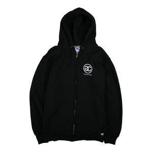 Gang Corp Logo Zip Up Sweatshirt Black