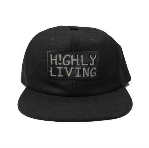 Highly Living Wool 3M Strap Back Cap Black