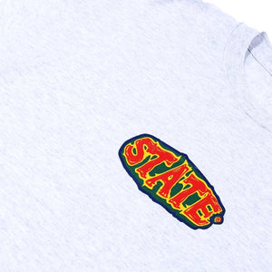 State NYC Roots Tee Heather Grey