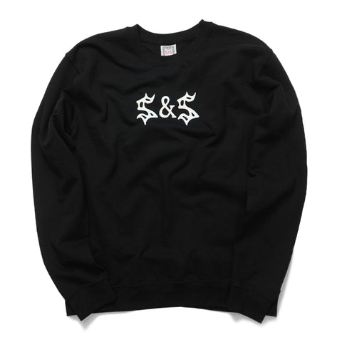 Saints & Sinners Logo Crew Neck Sweatshirt Black