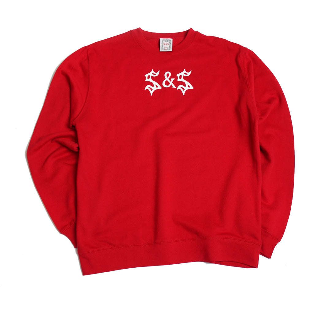 Saints & Sinners Logo Crew Sweatshirt Red
