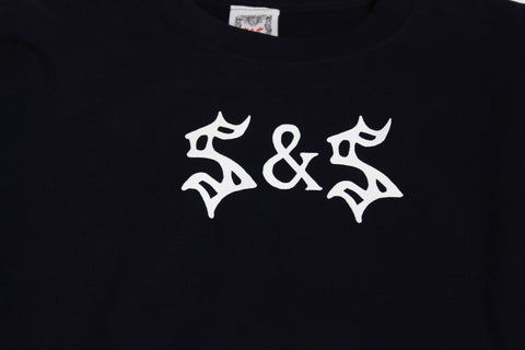 Saints & Sinners Logo Crew Sweatshirt Navy