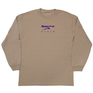 State NYC Agassi L/S Tee Sand