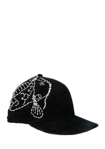 Coi Fish Sashiko Corduroy Fitted Hat