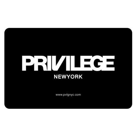 Privilege New York Gift Card