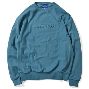 Lafayette Embossed Logo US Cotton Crewneck Sweatshirt