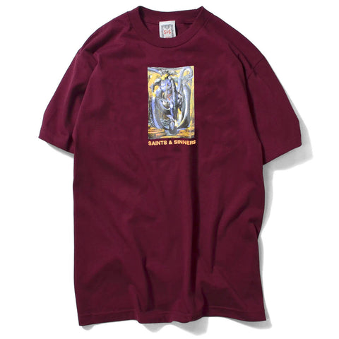 Saints & Sinners King Knight Tee Burgundy
