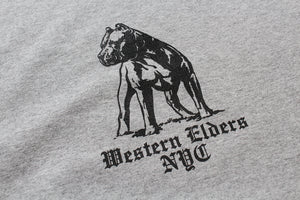 Western Elders Misunderstood L/S Tee Grey