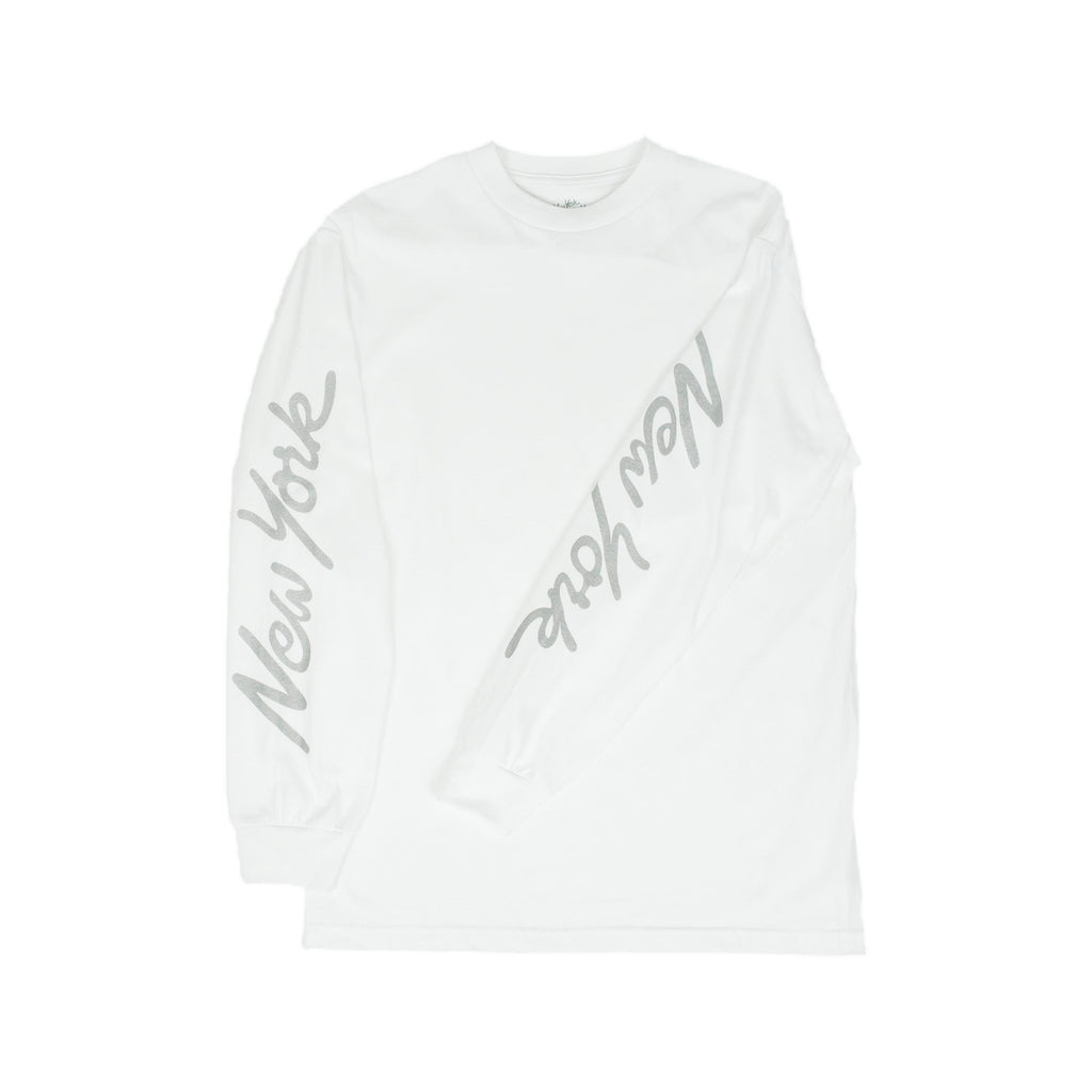 New York New York L/S Tee White/3M