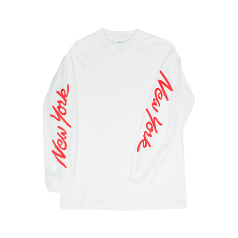 NYNY L/S Tee White/Red