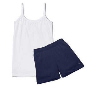 Girls under uniform shorts at SparkleFarms.com