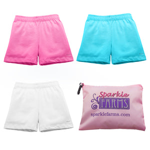 Buy Girls Under Dress Shorts from SparkleFarms.com | Pink White Aqua