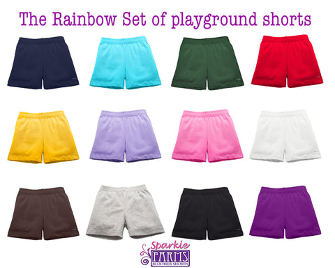 Rainbow Set of Girls Under Dress Shorts