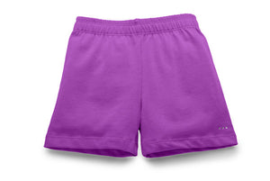 Girls purple under dresses and under skirts cartwheel shorts at SparkleFarms.com