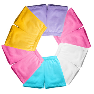 Buy pink white yellow blue lavender under dress shorts at SparkleFarms.com