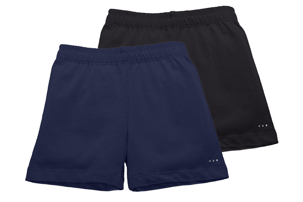 Girls Navy and Black Playground Shorts 2-pack - Cartwheel Ready!