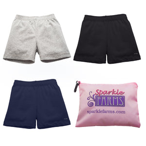 under school uniforms bike shorts at SparkleFarms.com