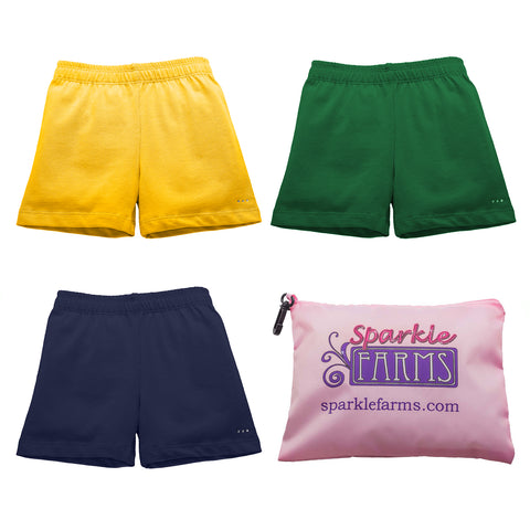 Buy girls under uniform active shorts from Sparkle Farms