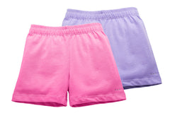 Girls Pink and Lilac Purple Playground Shorts 2-pack - Cartwheel Ready!