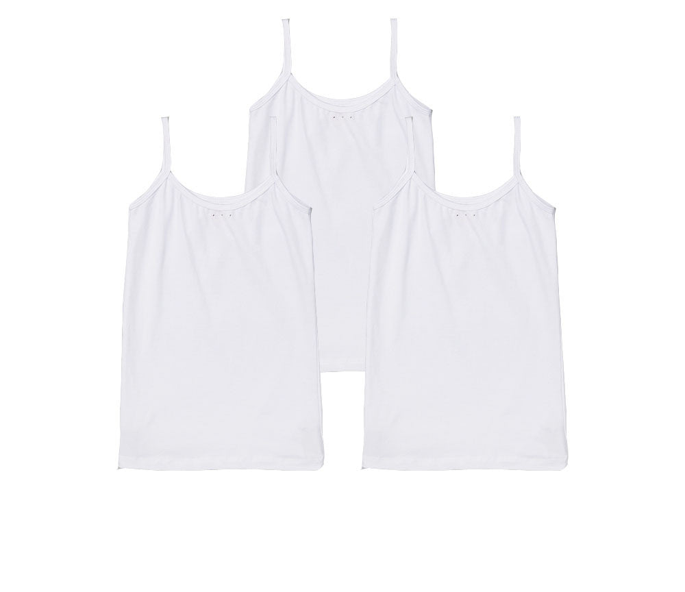 Girls White Camisole Set - Perfect Under Uniforms