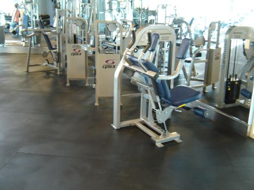 "Interlocking Rubber Gym Tiles (48""x 48"") --- FREE SHIPPING - FITFLOORS...Rubber Floors & more"