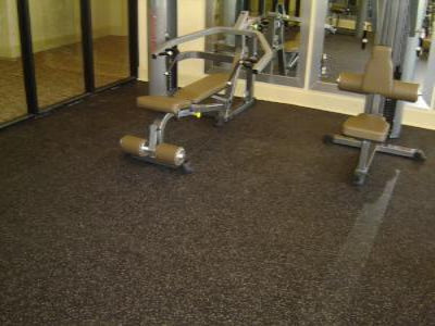 "Interlocking Rubber Gym Tiles (23"" x 23"")"
